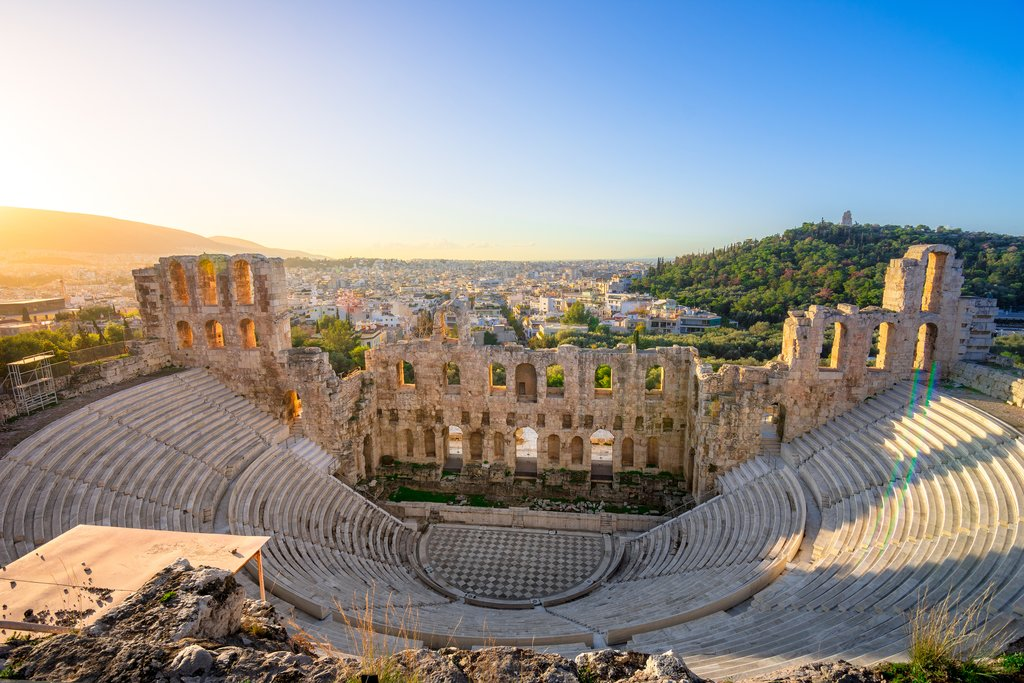 The Odeon of Herodes Atticus beneath the Acropolis, Athens