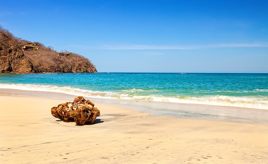 The Guanacaste region on the Pacific Coast is known for its arid landscape and beautiful beaches