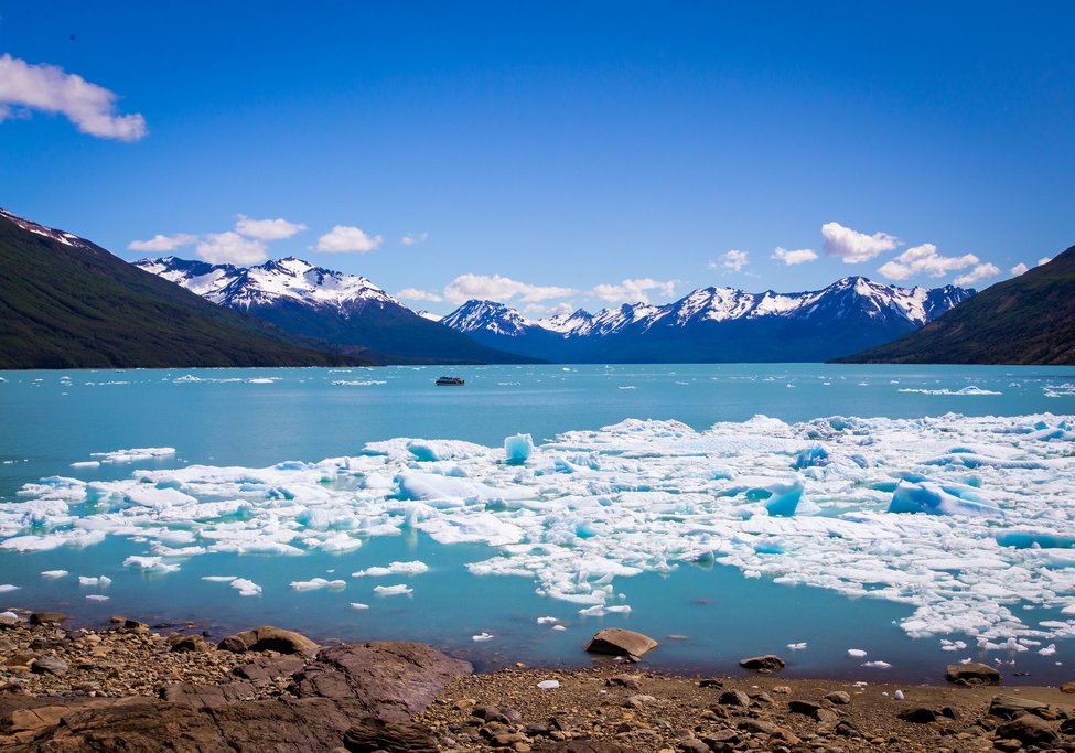 Glacial lake in El Calafate