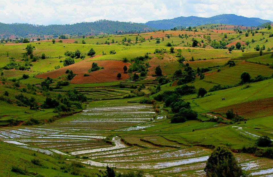 Scenery in the Shan Hills, Myanmar