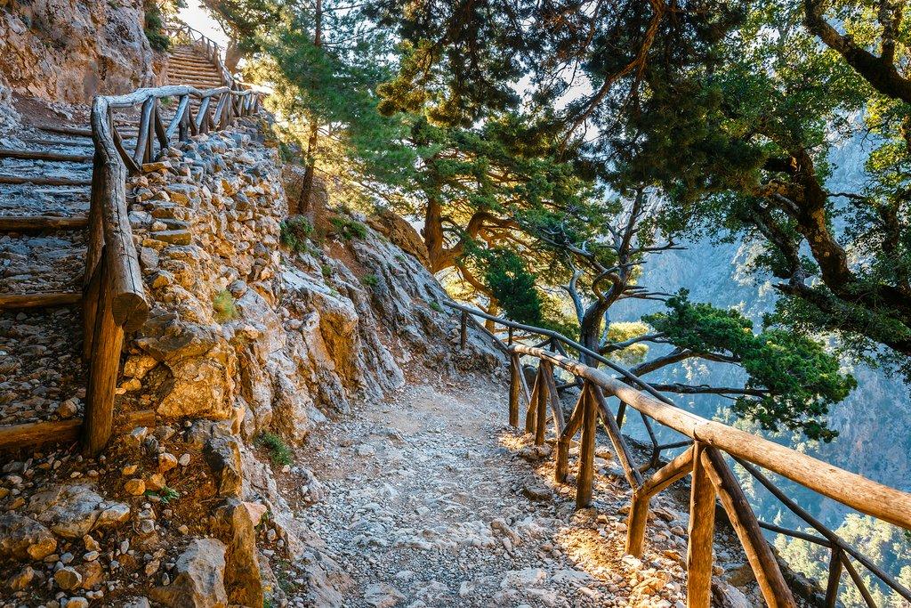 Samaria Gorge pathway in Crete