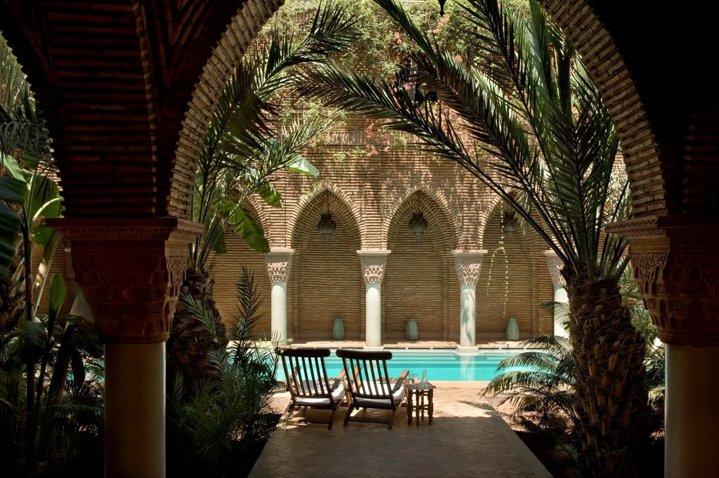 An inner courtyard at La Sultana, one of Marrakech's most luxurious sleeps (Photo courtesy of La Sultana)