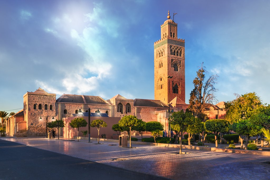 The iconic Koutoubia Mosque in Marrakech