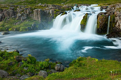 Dynjandi is the most famous waterfall of the Westfjords