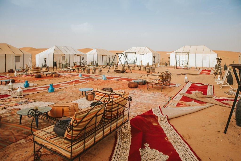 Sahara Desert camp, Morocco