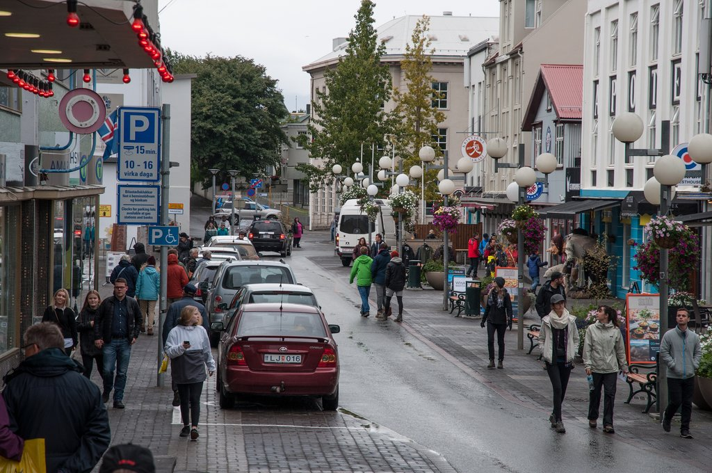 Streets of downtown Akureyri