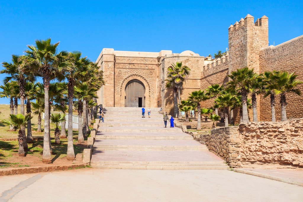 The Kasbah of the Udayas fortress in Rabat in Morocco.