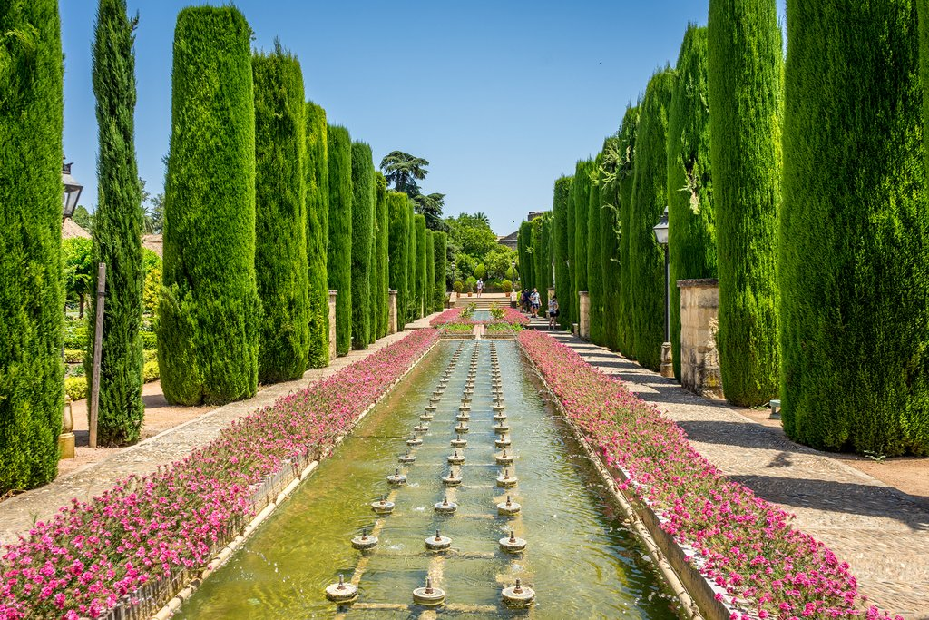 The royal garden in Córdoba's Alcazar
