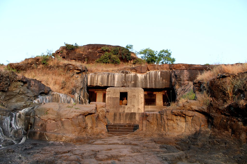The Ellora Caves, a UNESCO World Heritage site, in the district of Aurangabad