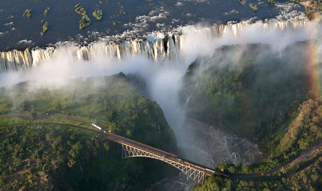 Take in vistas of Victoria Falls