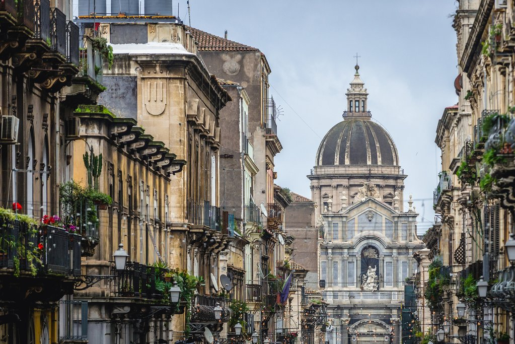Visit the impressive baroque Church of Sant'Agata al Carcerein Catania
