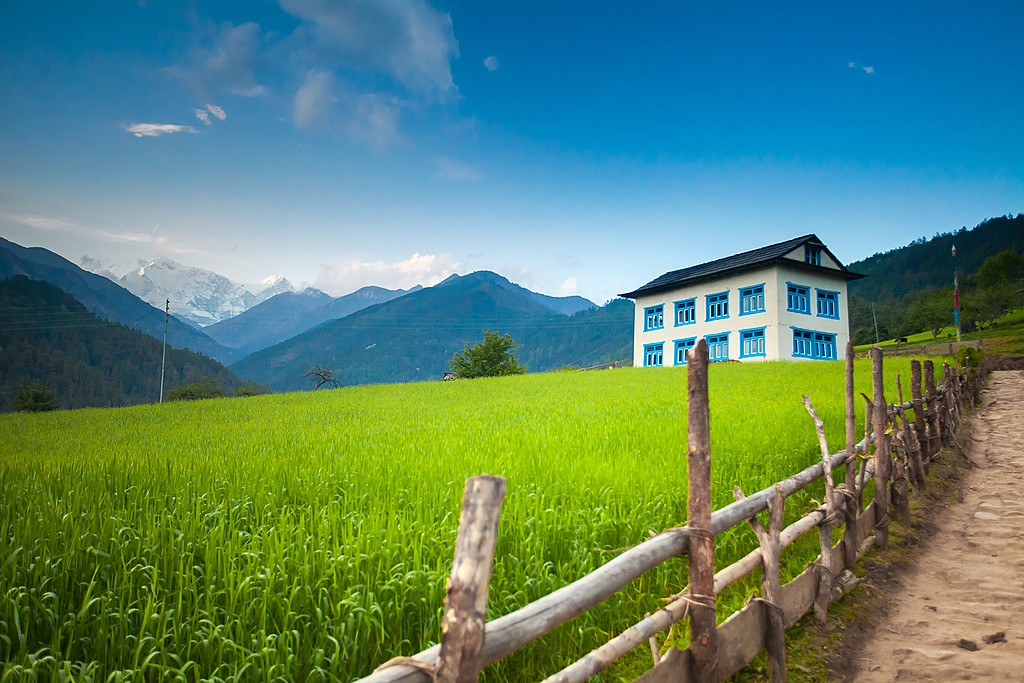 Cozy guesthouse along the trails in Nepal