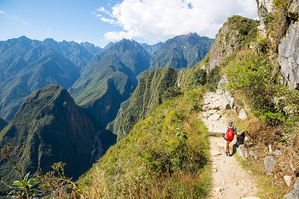 A mountain stone road on the Inca Trail