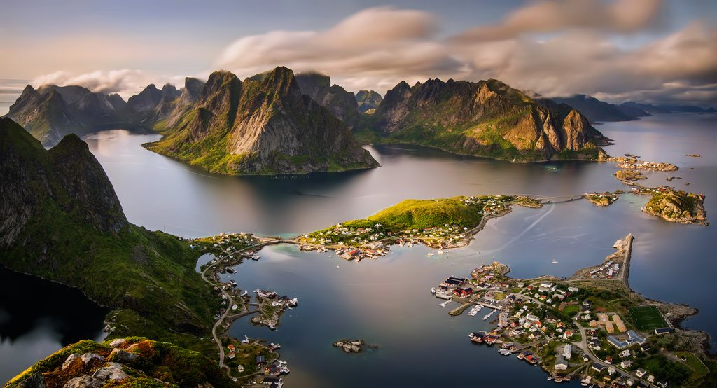 Aerial view of the Lofoten Islands
