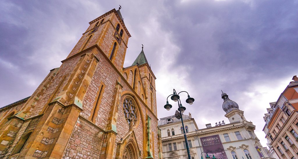 Visit the Sarajevo Cathedral in the capital's Old Town district
