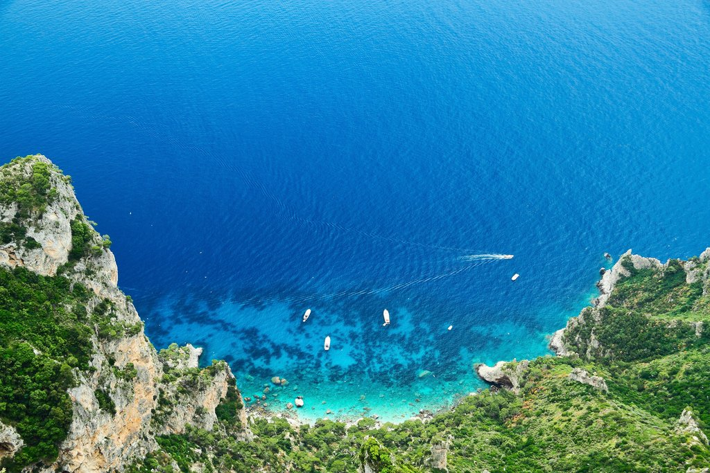 Island of Capri on the Amalfi Coast