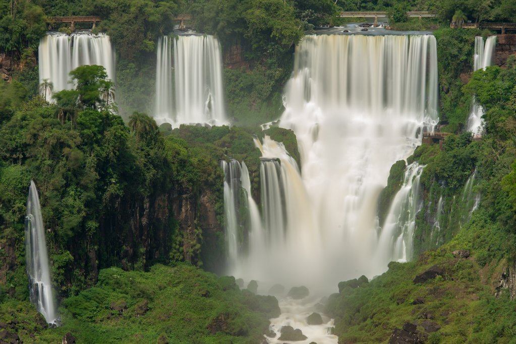 A stunning section of the Iguazú Falls