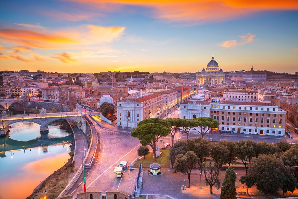 Streets of Rome and Vatican City