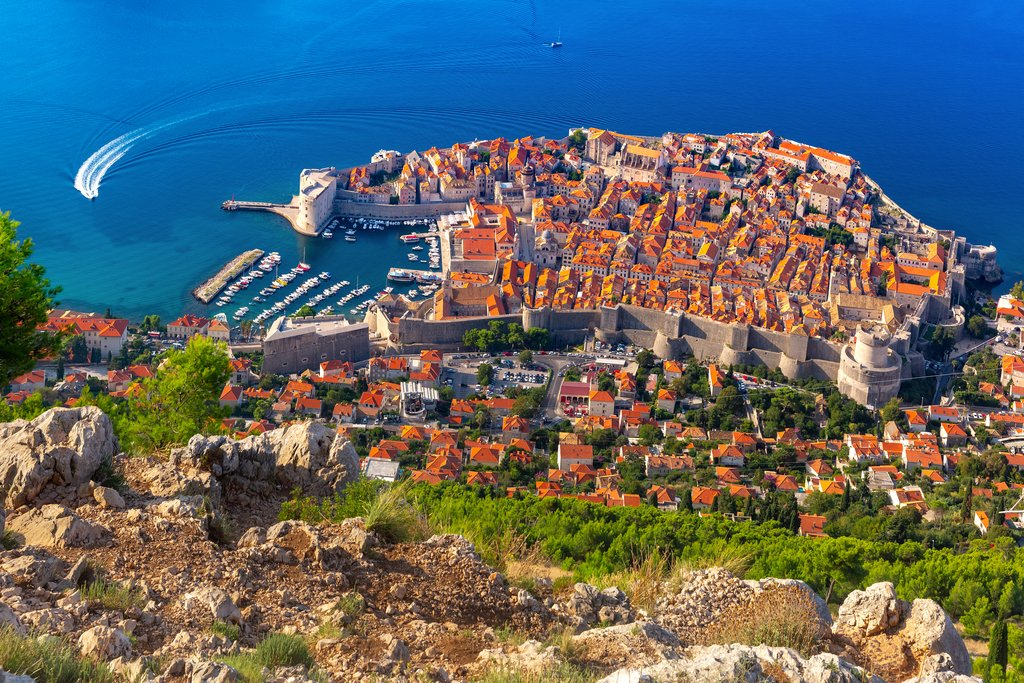 A view over Dubrovnik