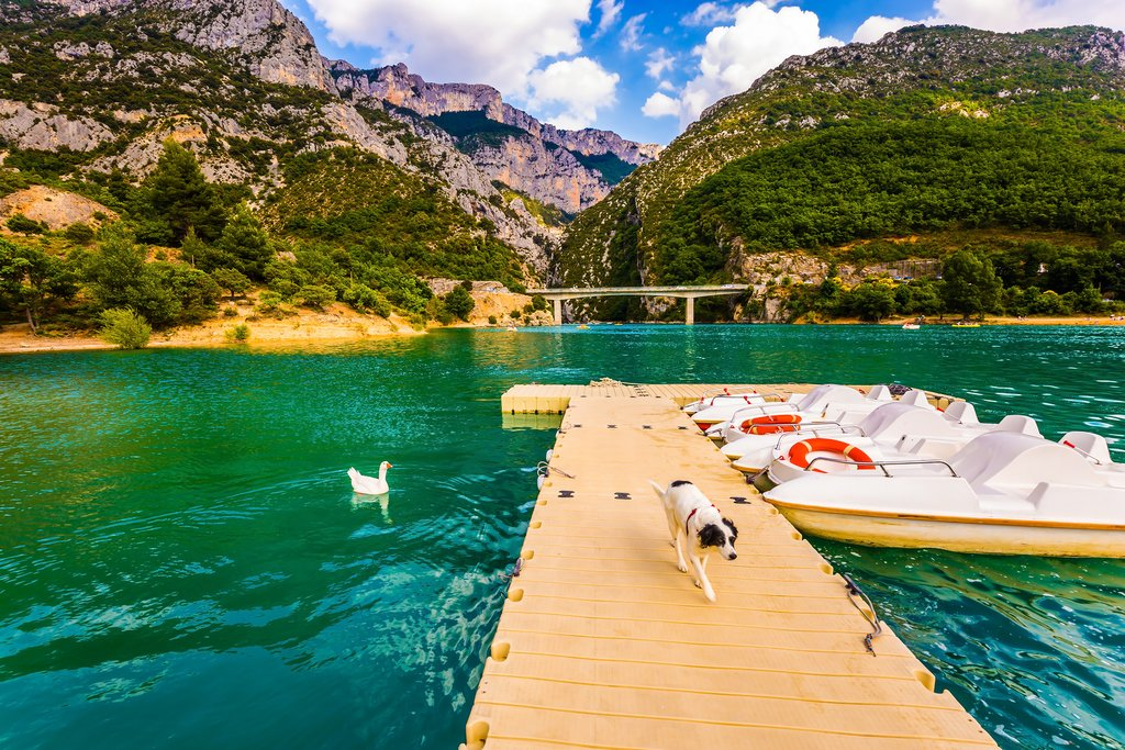 Paddle boats on the Verdon River
