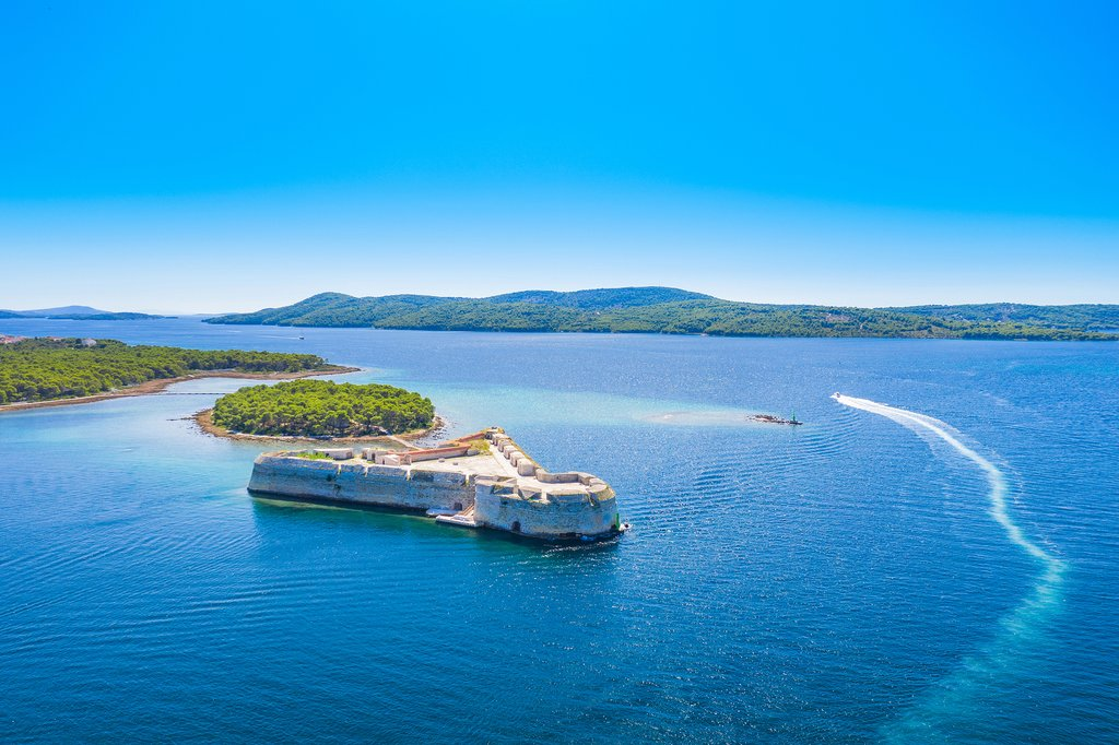 Saint Nicholas fortress in the bay of Sibenik