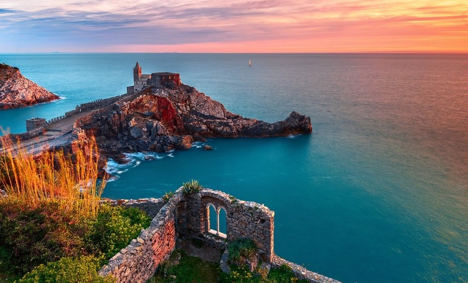 Italian Riviera Coastline