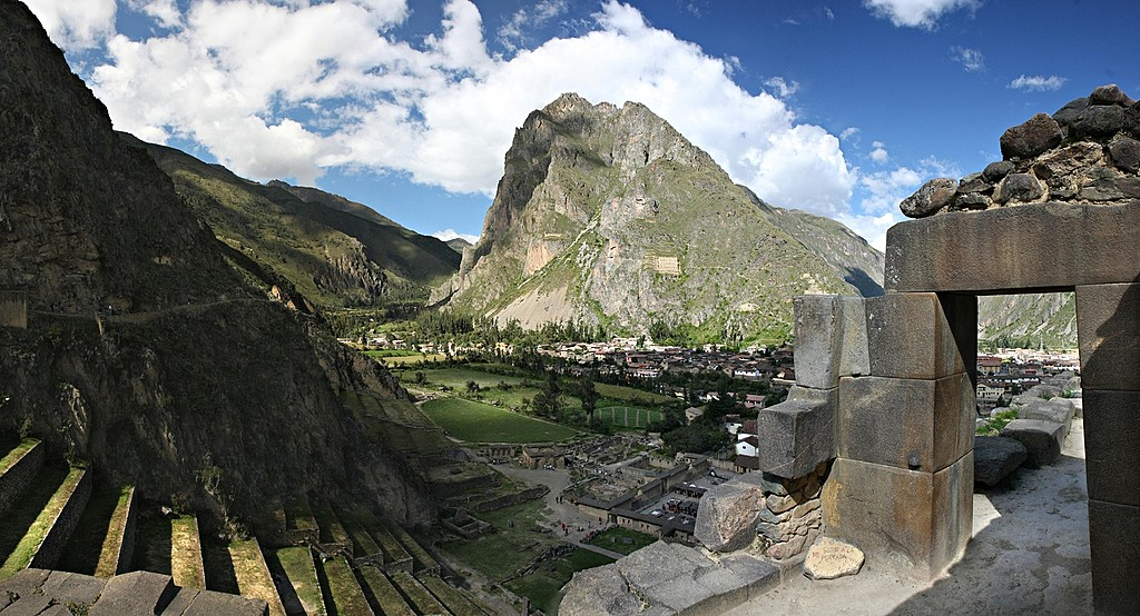 Ruins at Ollantaytambo in Peru's Sacred Valley