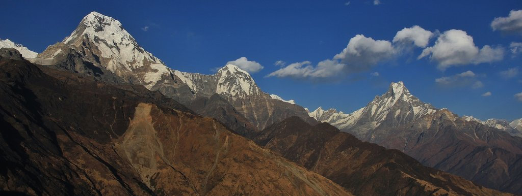 A view of the Annapurnas from Muldai Peak