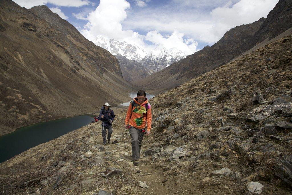 Hiking along the Bhutanese Himalaya