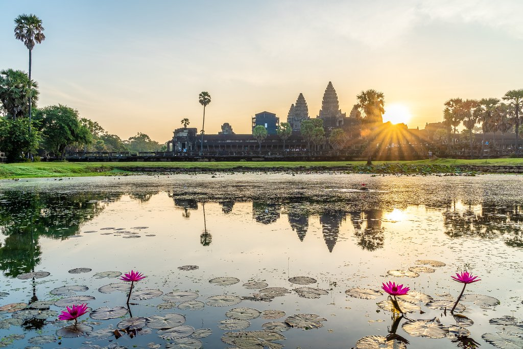 View of Angkor Wat at Sunrise