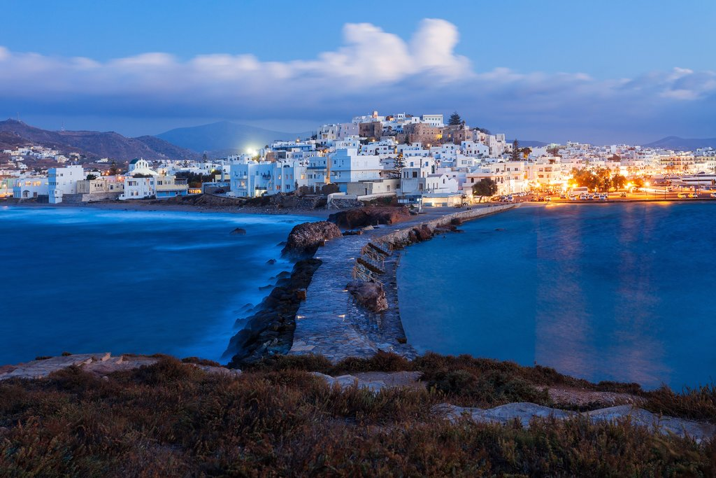 Evening in Naxos town