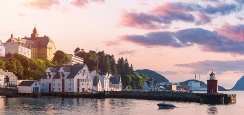 Ålesund is considered Norway's prettiest city, and rightfully so.