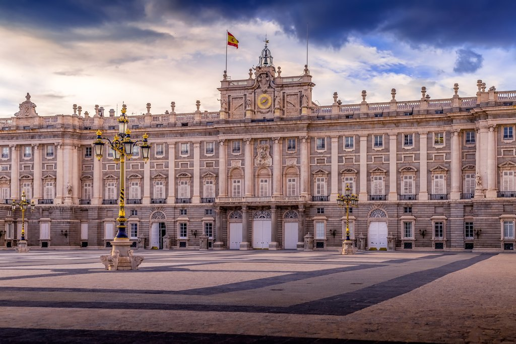The majestic Royal Palaces in Madrid with just under 3500 rooms