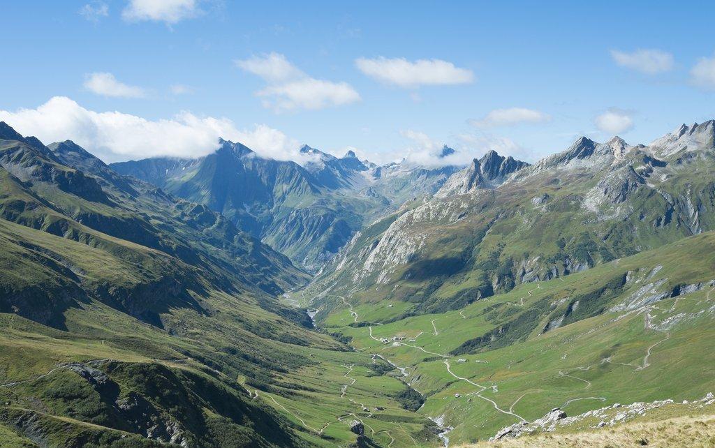 Ville des Glaciers with Les Chapieux
