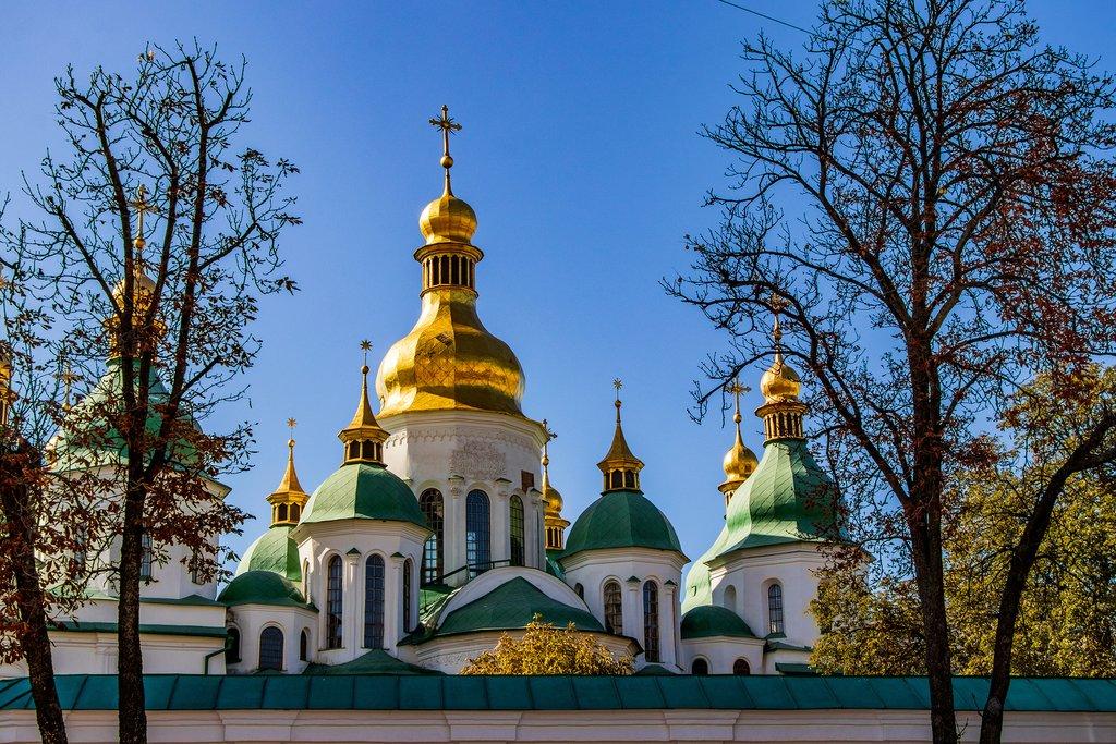 Kiev's cathedral of Sophia Square