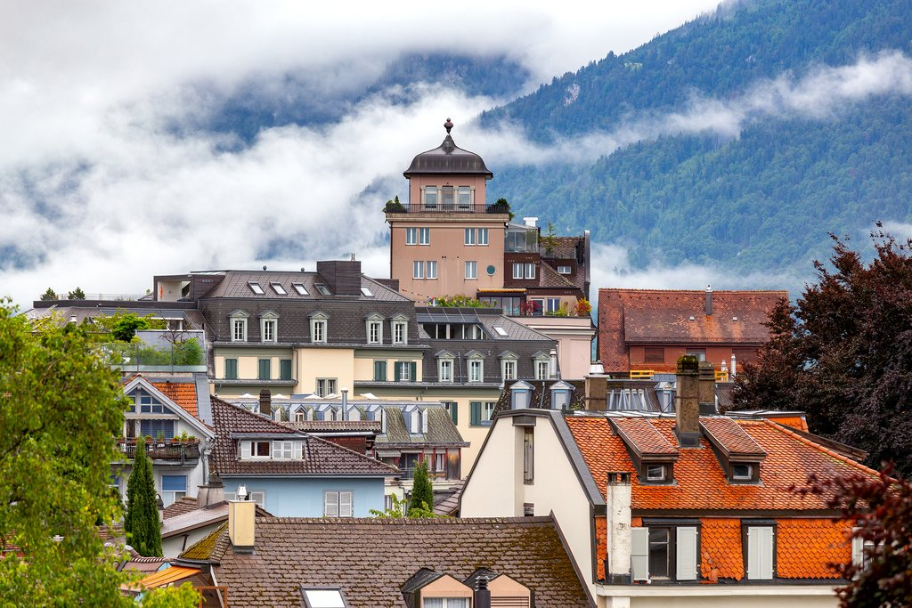 Interlaken rooftops