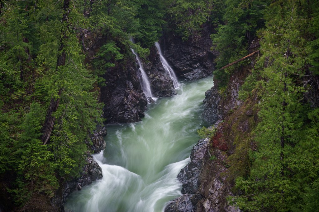 Waterfalls on Gordon River near Port Renfrew