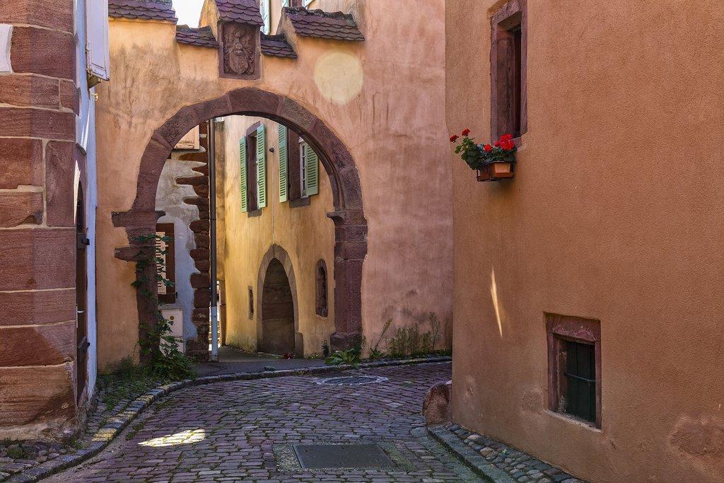 Medieval streets in Kaysersberg in Alsace