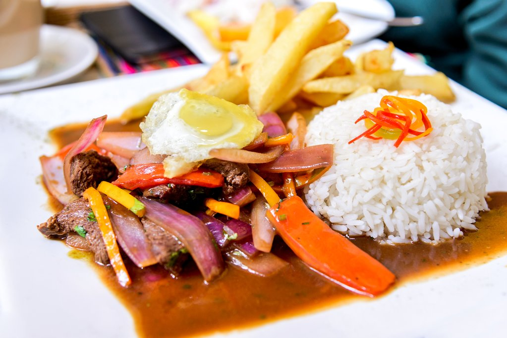 Lomo Saltado - a Peruvian stir-fry and one of the most popular foods of Peru