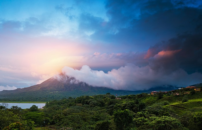 Arenal Volcano in the Sunset