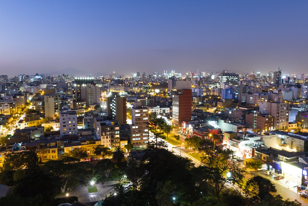 Night view of Miraflores