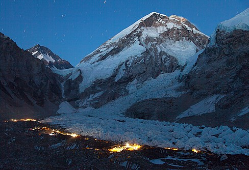 Tents at the foot of the Khumbu Glacier, Everest Base Camp