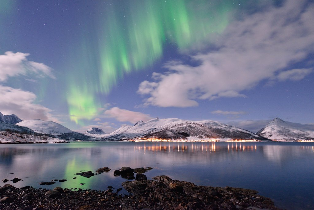 Northern Lights in Senja, Norway's 2nd largest island