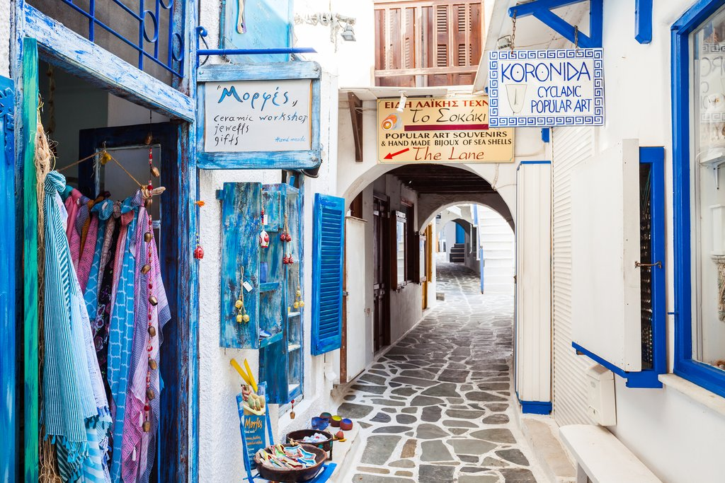 Streets of the Naxos Kastro district