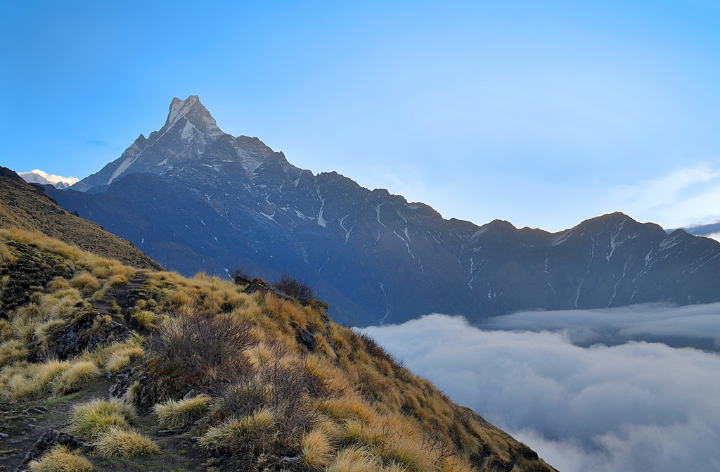 Machapuchare  from the trail, Mardi Himal trek