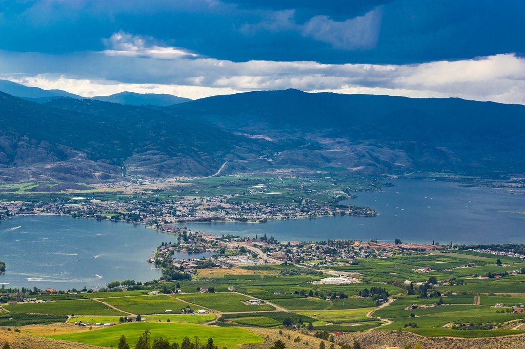 Osoyoos rests at the south end of the Okanagan Valley
