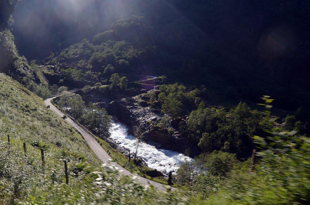 Flam railway line in scenic Norway