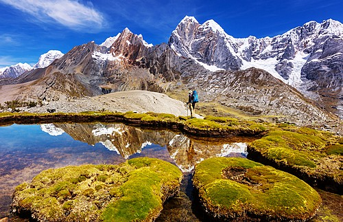 Incredible mountain ranges in Cordillera Huayhuash, Peru