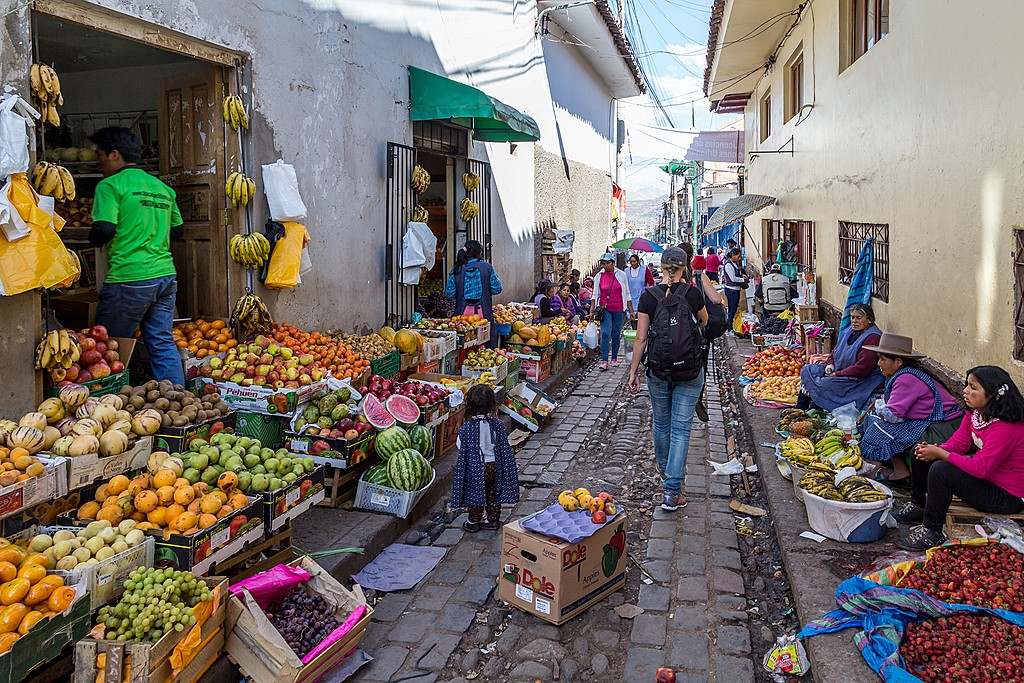 The best and most authentic Andean food in Cusco is often served from stalls at markets or on street corners