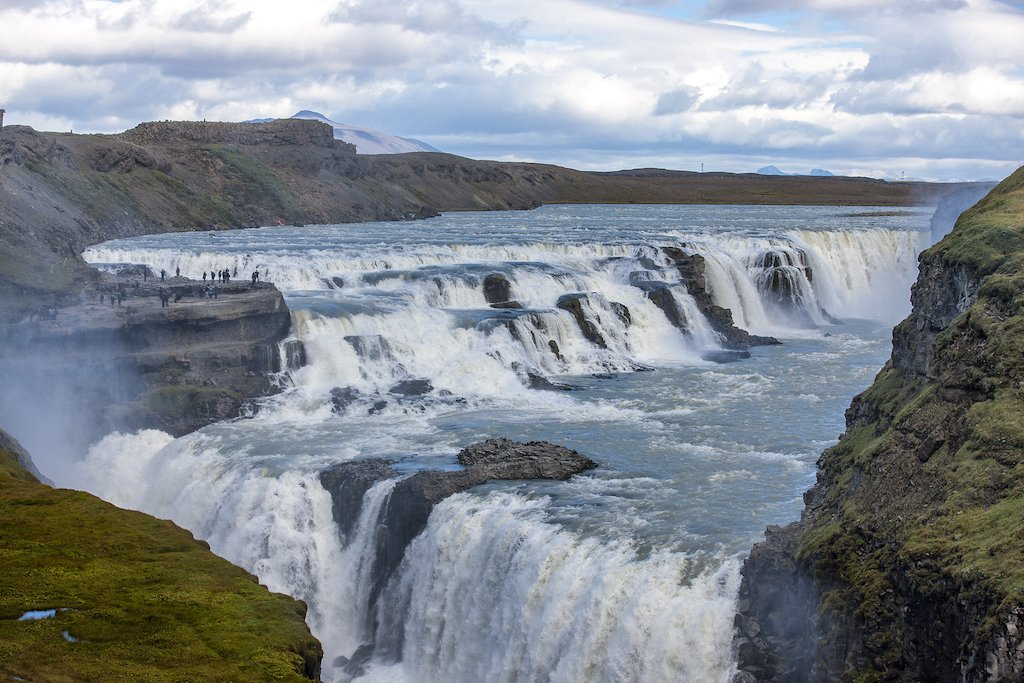 Gullfoss Falls - Iceland's second largest waterfall
